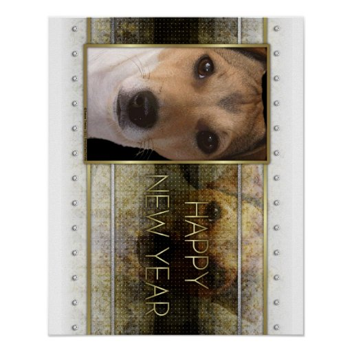New Year - Golden Elegance - Jack Russell Poster
