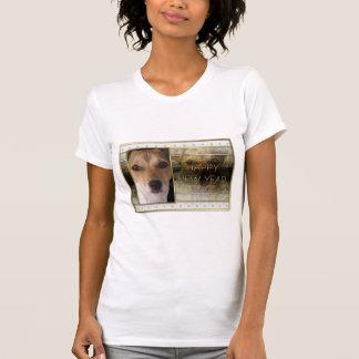 New Year - Golden Elegance - Jack Russell T-Shirt