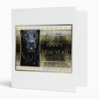 New Year - Golden Elegance - Labrador - Black Gage Binder