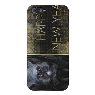 New Year - Golden Elegance - Labrador - Black Gage Cover For iPhone 5
