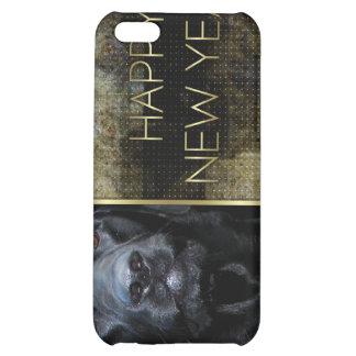 New Year - Golden Elegance - Labrador - Black Gage Case For iPhone 5C