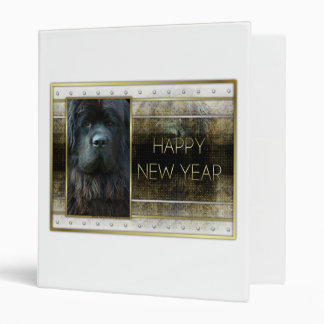 New Year - Golden Elegance - Newfoundland 3 Ring Binder