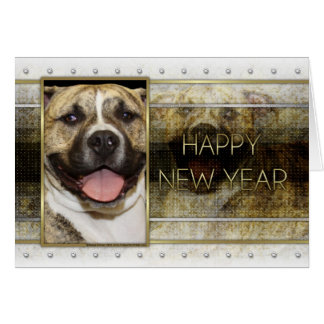 New Year - Golden Elegance - Pitbull Tigger Cards