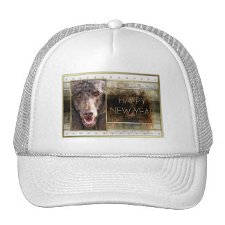New Year - Golden Elegance - Poodle - Chocolate Trucker Hat
