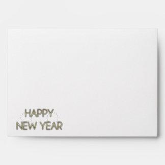 New Year - Golden Elegance - Saluki Envelope