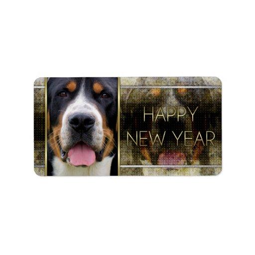 New Year - Golden Elegance - Swissie Address Label