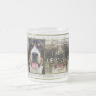 New Year - Golden Elegance - Swissie 10 Oz Frosted Glass Coffee Mug