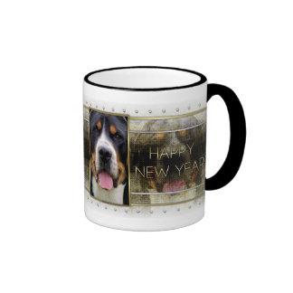 New Year - Golden Elegance - Swissie Ringer Coffee Mug