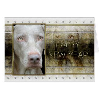 New Year - Golden Elegance - Weimeraner Greeting Card