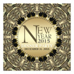 New Year Golden Sun Tribal Funky Party Invitations