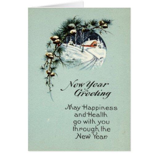 New Year Greeting 1915 Vintage Greeting Card