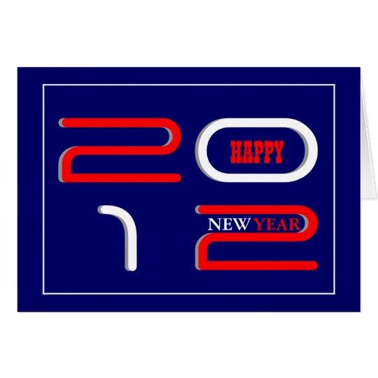 New year greeting modern card