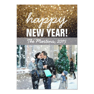 New Year Greeting Photo Card
