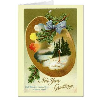 New Year Greetings 1912 Vintage Card