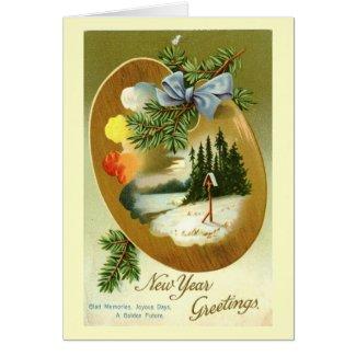 New Year Greetings 1912 Vintage Greeting Card