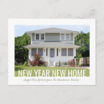 New Year Home Photo Change of Address Holiday Announcement Postcard