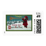 New Year Horn Blower Postage Stamps