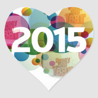 New Year Image 2015 Heart Sticker