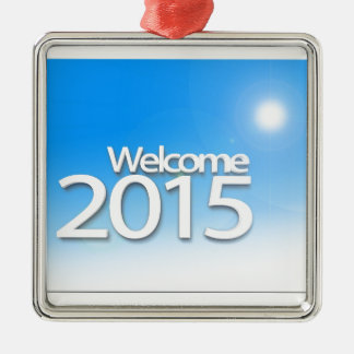 New Year Image 2015 Metal Ornament