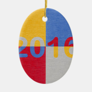 New Year Image 2016 Ceramic Ornament