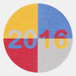 New Year Image 2016 Classic Round Sticker