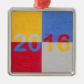 New Year Image 2016 Metal Ornament