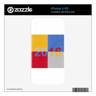 New Year Image 2016 Skin For iPhone 4S