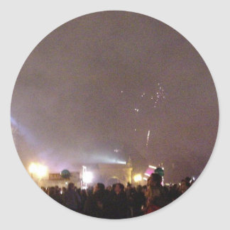 New Year In Balboa Park Round Stickers
