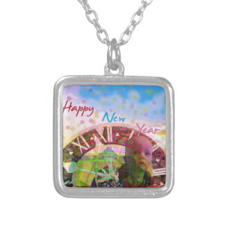 New Year is coming soon Silver Plated Necklace