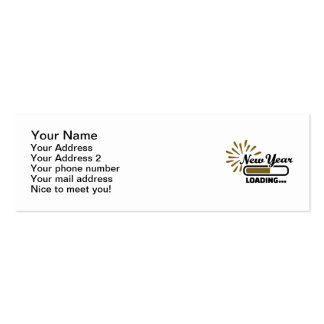 New Year loading Double-Sided Mini Business Cards (Pack Of 20)