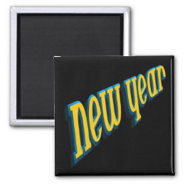 New Year Magnet