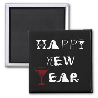 New Year Martini Magnet