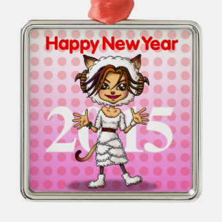 New year metal ornament