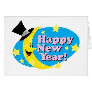 New Year Moon & Stars Card