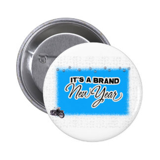 new year motercycle pinback button