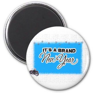 new year motercycle refrigerator magnet