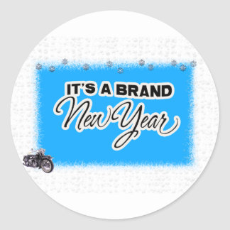 new year motercycle sticker
