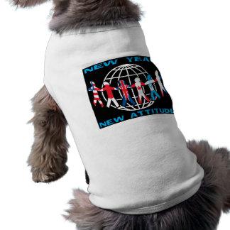 New Year New Attitude Dog T-shirt