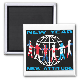 New Year New Attitude Fridge Magnet