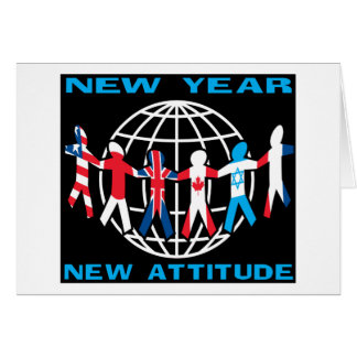 New Year New Attitude Greeting Cards