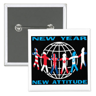 New Year New Attitude Pinback Buttons