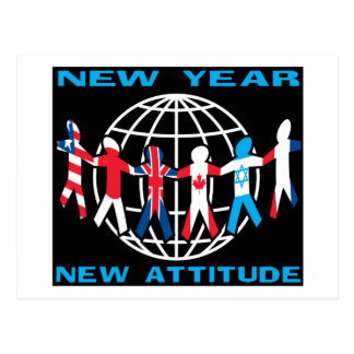 New Year New Attitude Postcard