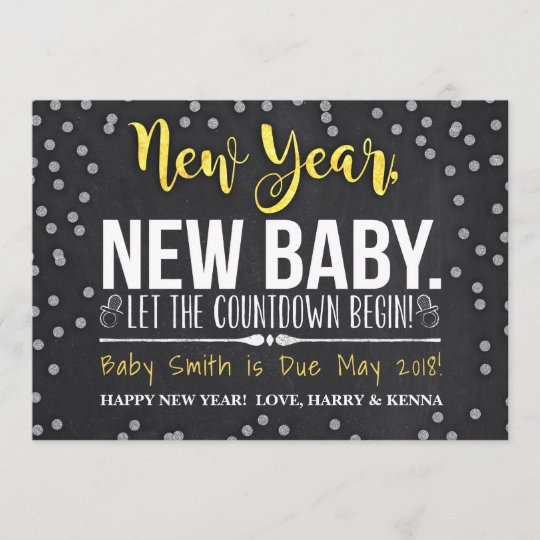 new year new baby pregnancy announcement