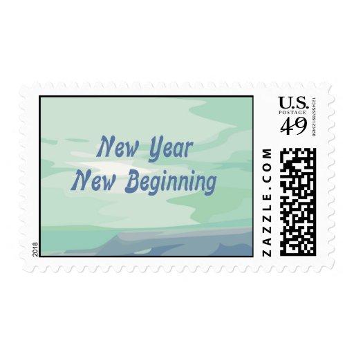 New Year New Beginning Postage Stamp
