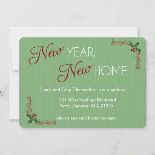 new year new home christmas moving announcement
