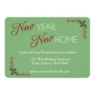 New Year, New Home Christmas Moving Announcement Custom Announcement