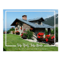 New Year, New Home We've Moved Announcement Postcard at Zazzle