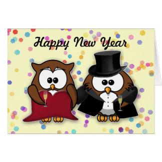 New Year owl Card