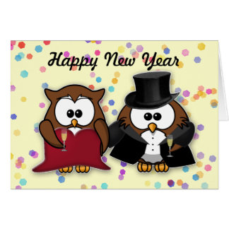 New Year owl Greeting Card