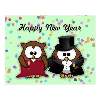 New Year owl Postcard